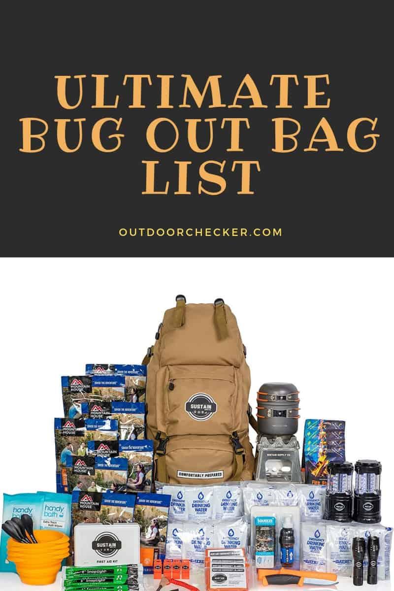 Ultimate Bug Out Bag List