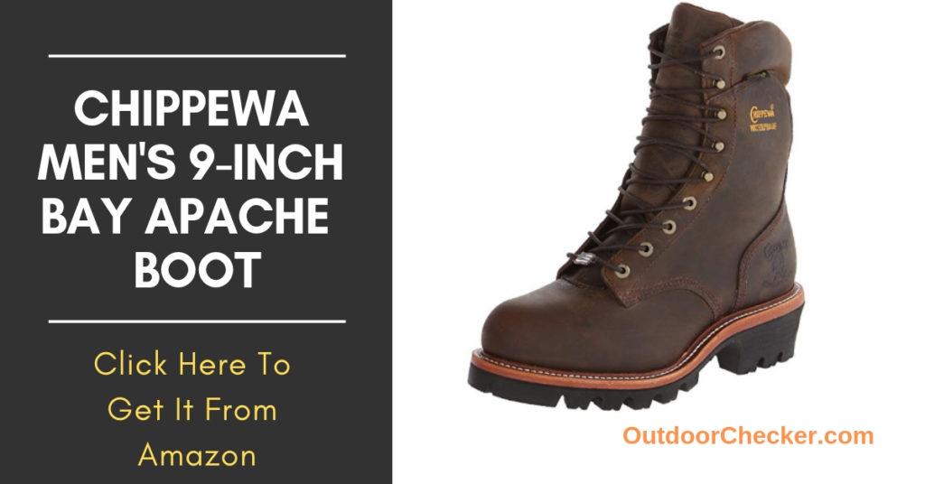 Chippewa Men's 9-Inch Bay Apache Waterproof Steel-Toe Super Logger Boot
