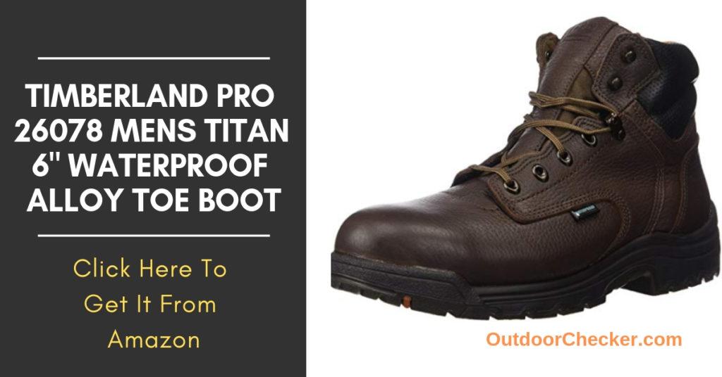 "Timberland PRO 26078 Mens TiTAN 6"" Waterproof Alloy Toe Boot"