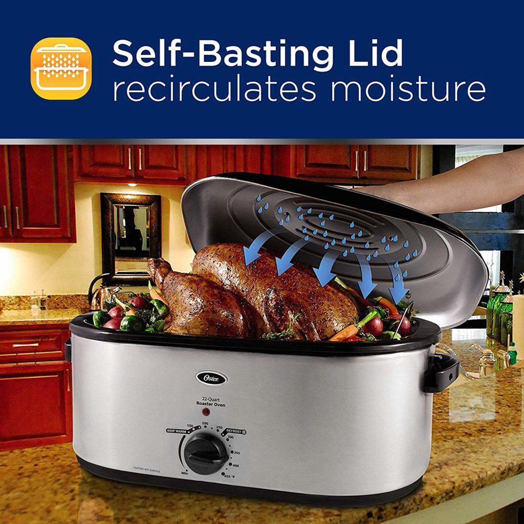 Oster CKSTRS23-SB 22-Quart Roaster Oven features
