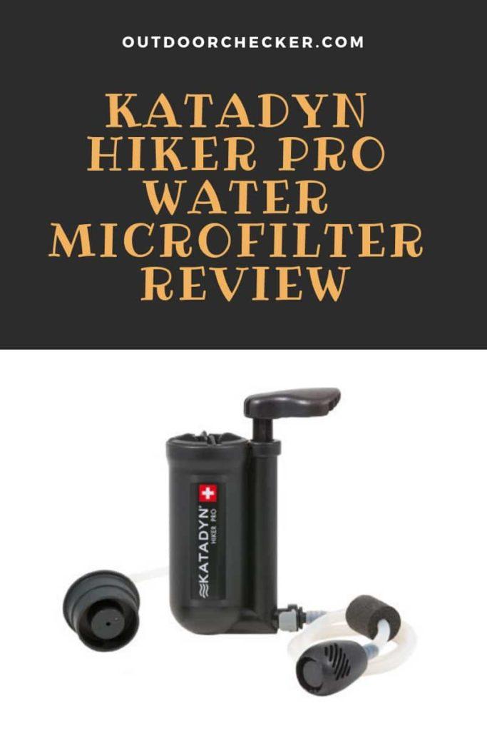 Katadyn Hiker Pro Water Microfilter review