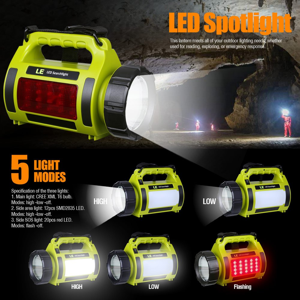 LE 10W Rechargeable CREE T6 LED Spotlight