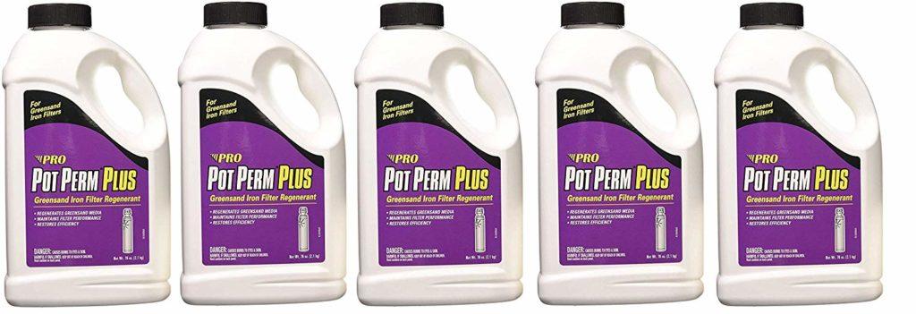 Pot Perm Plus Potassium Permanganate Greensand Iron Filter Regenerant 76 Ounce Bottle (Fivе Расk)