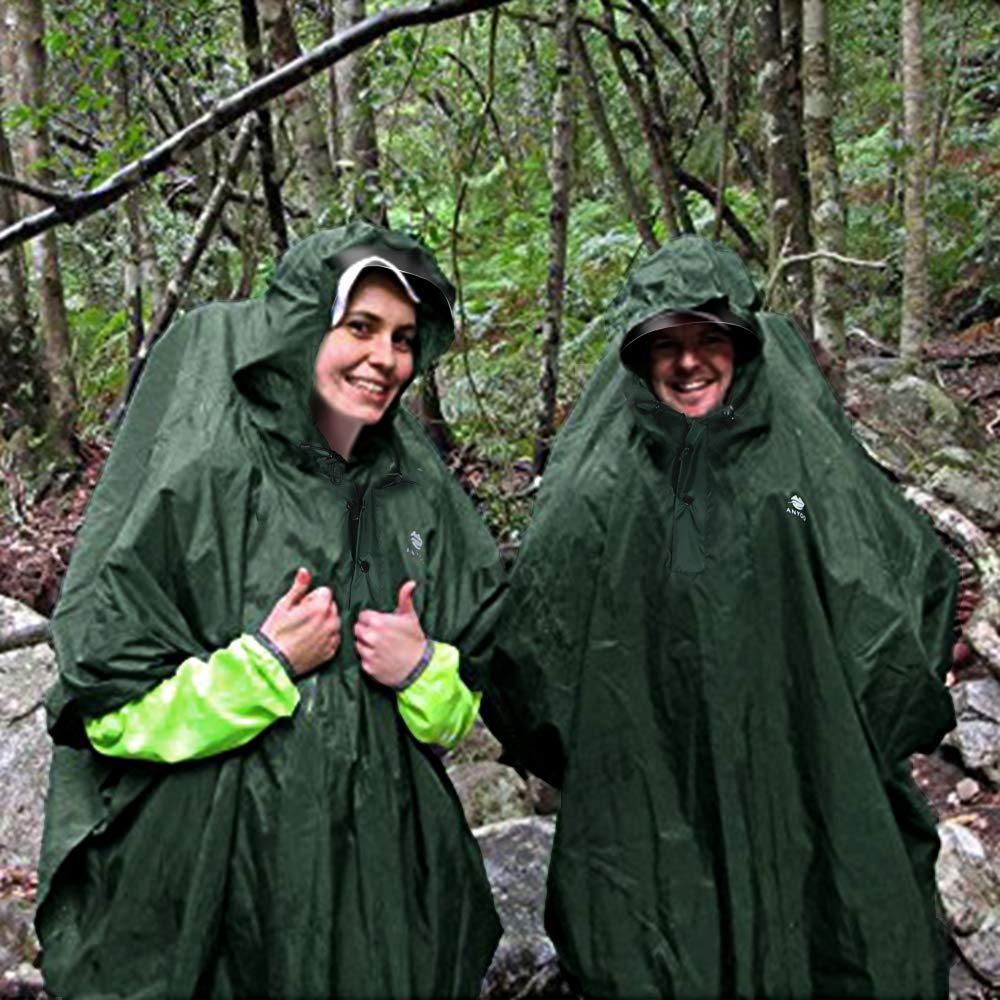 Anyoo Waterproof Rain Poncho Jacket for Outdoor Activities